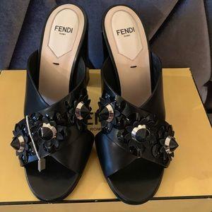FENDI crisscross heel sandal